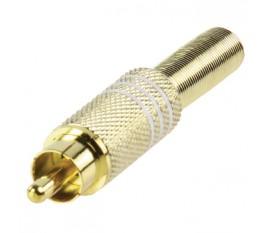 RCA plug goldplated white