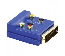 SCART adapter male - SCART female + 3x RCA + svhs