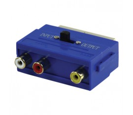 SCART adapter SCART male - 3x RCA female in + out