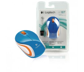 M187 wireless mini mouse blue
