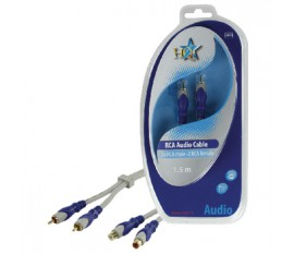 Standard 2x RCA male - 2x RCA female cable 1.50 m