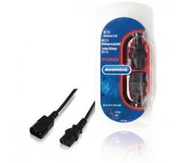 Cordon rallonge IEC C13 IEC-320-C14 - IEC-320-C13 2,0 m noir