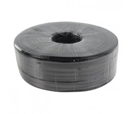 8-conductors flat telephone cable on reel 150 m black
