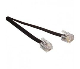 Modular extension cord 2.00 m black