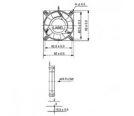 DC fan 60x60x15 mm