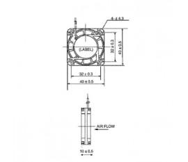 DC fan 40x40x10 mm