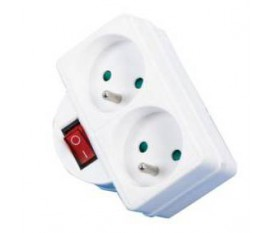 Switchable socket two french outlet