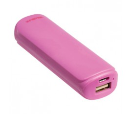 Batterie portable 2200mAh, 5V, 1A, rose