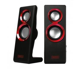 2.0 Speaker Set Purephonic 20 Watt Red USB
