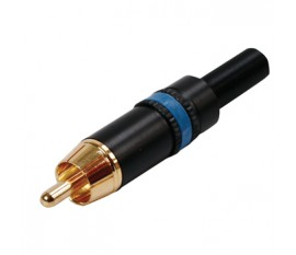 NYS373 RCA plug goldplated blue