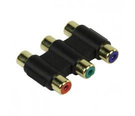 Coupleur vidéo 3x RCA femelle - 3x RCA femelle component