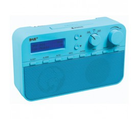 Radio DAB+ avec 20préréglages et fonction réveil, coloris bleu