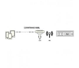 Transmetteur FM noir avec télécommande