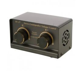 Stereo loudspeaker volume control