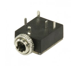 Prise jack 3.5 mm stéréo femelle pour châssis noire 5 pièces