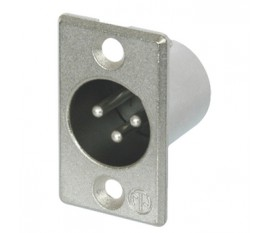 NC3MP 3p XLR male chassis mount