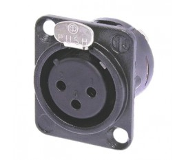 3p XLR female chassis mount