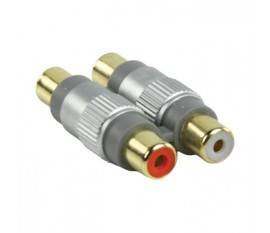 RCA coupler 2x F - 2x F audio gold plated