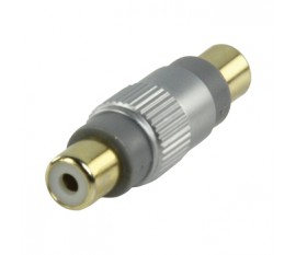 RCA coupler F-F goldplated