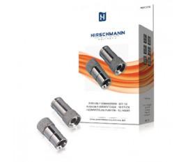 Connecteurs push on - 10 pièces pour le montage des connecteurs-f; apres l'ouverture du cable à denuder, appuyez sur le bouton-poussoir le f-connecteur sur le cable coaxial