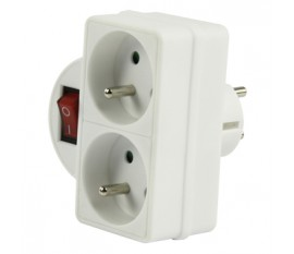 Switchable socket two outlets
