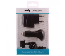 Charger kit for iPhone 4/4S/3GS/3G 230V/12V/USB