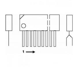 Power amplifier 2x30 W / 8E 28 V 0.4%