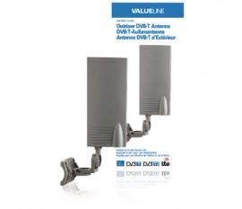 Antenne DVB-T d'extérieur pour une utilisation en intérieur ou en extérieur 15dB