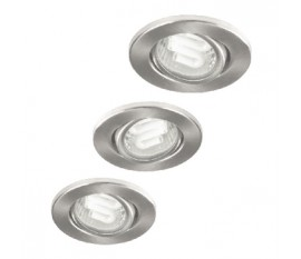 Downlight energy saving set of three GU10