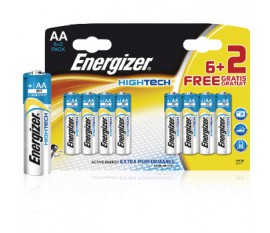 Piles alcalines AA/LR6 1.5 V HighTech 6+2pcs/blister