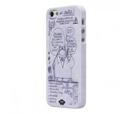 Étui caoutchouté pour iPhone 5S/5 blanc