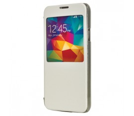 Smartphone case PU leather for Galaxy S5 white