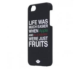 Étui caoutchouté pour iPhone 5S/5 noir