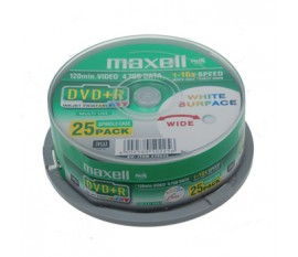 DVD+R 4.7 GB printable 8x 25 pieces spindle