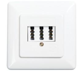 3-Way TAE-NFN Wall Socket