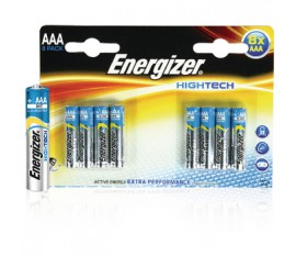 Piles alcalines AAA/LR03 1.5 V HighTech 8pcs/blister