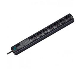 Extension socket Primera-Tec 7-way black H05VV-F3G1,5 master-slave
