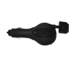 Charger 12-24V 0.8A for iPhone retractable