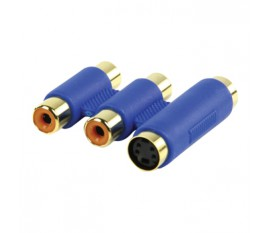 video coupler s-video + 2x RCA female - s-video + 2x RCA female