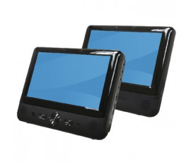 "9"" lcd screen with built-in dvd player + extra 9"" lcd screen"