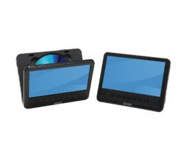 "7"" lcd screen with built-in dvd player + extra 7"" lcd screen"