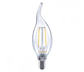 Flamme Bent-tip 250LM 827 ampoule a filament LED E14 2W