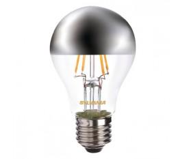 calotte argentée 450LM 827 ampoule a filament LED E27 4W