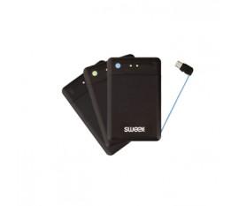 Jeu de 2batteries portables ultraplates 2500mAh avec câble micro-USB et socle de chargement