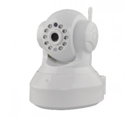 Caméra IP d'intérieur HD avec fonction panoramique, inclinaison et audio bidirectionnelle