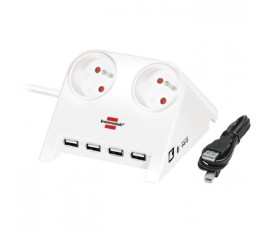 2-Way Desktop-Power-Plus with USB 2.0 hub, white