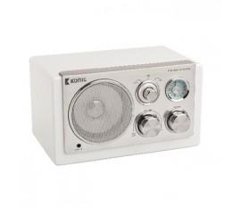 Radio de table rétro blanche