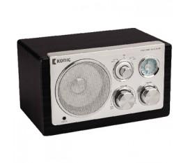 Radio de table rétro noire