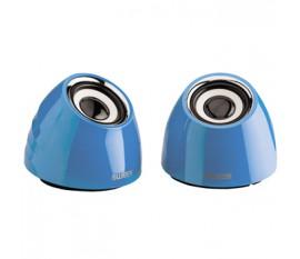 Jeu de deux haut-parleurs portables2.0 alimenté par USB 3W bleu