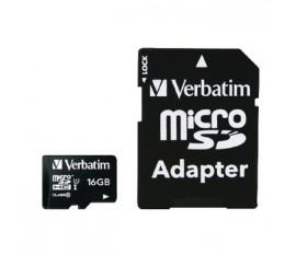 Micro SDHC 16 Go* - Class 10 avec adaptateur